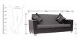 Empire Three Seater Sofa in Black Colour by ARRA