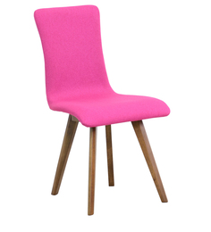 Emiliano Dining Chair (Set Of 2) In Magenta Pink Color By CasaCraft - 1410451
