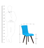 Emiliano Chair (Set of 2) in Cerulean Blue Colour by CasaCraft