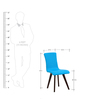 Emiliano Dining Chair (Set of 2) in Cerulean Blue Colour with Cappucino Legs by CasaCraft