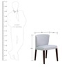 Emilio Dining Chair (Set of 2) in Silver Grey Color by CasaCraft