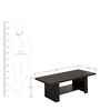 Coffee Table with Minimal Broad Stays by AfyDecor