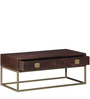 Endako Coffee Table in Rustic Brown Finish by Bohemiana