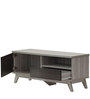 Entertainment Unit in Light Grey with Wenge Finish by Marco