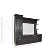 Entertainment Unit in Wenge Finish by Spacewood