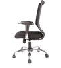 Ergonomic Aspire Medium Back Chair in Black Colour by FabChair
