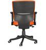 Ergonomic Chair in Orange Colour by Karigar