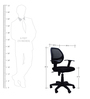 Ergonomic Chair with Mesh Back in Black Colour by Emperor