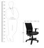 Ergonomic Medium Back Chair in Black Colour by ChromeCraft