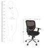 Ergonomic Mesh Back Office Chair in Black Colour by KS