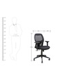 Ergonomic Mid Back Chair in Black Colour by Star India