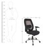 Ergonomic Office Chair in Black Colour by KS