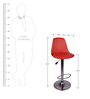 Ergonomico Red Color Bar Chair by VJ Interior