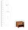 Eros Bedside Table in Provincial Teak Finish by Woodsworth