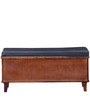 Escobar Three Door Shoe Rack with Seating in Honey Oak Finish by Woodsworth