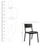 Eskimo Cafeteria Chair Set of Two in Black Colour by Cello