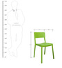 Eskimo Cafeteria Chair Set of Two in Green Colour by Cello