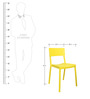 Eskimo Cafeteria Chair Set of Two in Yellow Colour by Cello