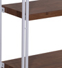 Essen Display Unit in White and Walnut Finish by Evok