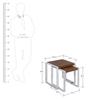 Essen Nest of Tables in White &Walnut Finish by Evok - Set of 2