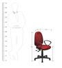 Esteem Ergonomic Office Chair in Maroon Colour by Nilkamal
