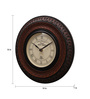 Ethnic Clock Makers Brown MDF & Metal 10 Inch Round Wall Clock