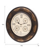Ethnic Clock Makers Brown MDF & Metal 16 Inch Round Wall Clock