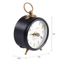 Ethnic Clock Makers Brown Metal & MDF 3 x 1.5 x 3 Inch Table Clock