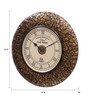 Ethnic Clock Makers Gold MDF & Metal 16 Inch Round Block Brass Fit Handmade Wall Clock