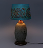 Ethnic Roots Blue Cotton Table Lamp