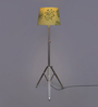 Ethnic Roots Green Cotton Floor Lamp