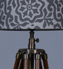 Ethnic Roots Grey Cotton Floor Lamp