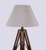 Ethnic Roots Mango Wood And Beige Color Tripod Floor Lamp