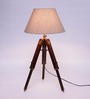 Ethnic Roots Mango Wood & Beige Color Tripod Table Lamp