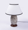 Hernando Table Lamp in White by CasaCraft