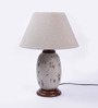 Ethnic Roots Gray Metal Table Lamp Base