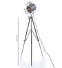 Ethnic Roots Nickel Finish Tripod Floor Lamp