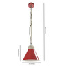 Roscoe Ceiling Lamp in Red by Bohemiana