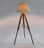 Ethnic Roots Beige Conical Tripod Floor Lamp