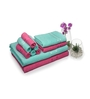 Eurospa Multicolour 100% Cotton Bath, Hand and Face Towel - Set of 10