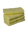 Eurospa Yellow Cotton 24 x 16 Paradise Hand Towels - Set of 4
