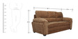 Evok Three Seater Sofa in Brown Colour by Home City