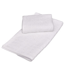 Avira Home White Cotton Hand Towel - Set Of 2