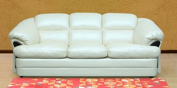 Everest Three Seater Sofa In Ivory Colour By Sofab