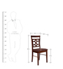 Eva Dining Chair Set of 2 in Brown Colour by HomeTown
