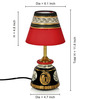 ExclusiveLane Black & Red Polyvinyl & Terracotta Lamp