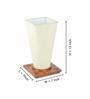 ExclusiveLane Cream Polyvinyl Table Lamp