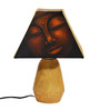 ExclusiveLane Brown & Yellow Polyvinyl & Terracotta Buddha Lamp