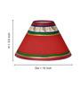 ExclusiveLane Red & Brown Mango Wood & Polyvinyl Dhokra Figurine & Warli Lamp