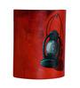 ExclusiveLane Red Lantern Canvas Wall Lamp